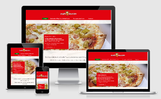 pizza lieferservice webdesign