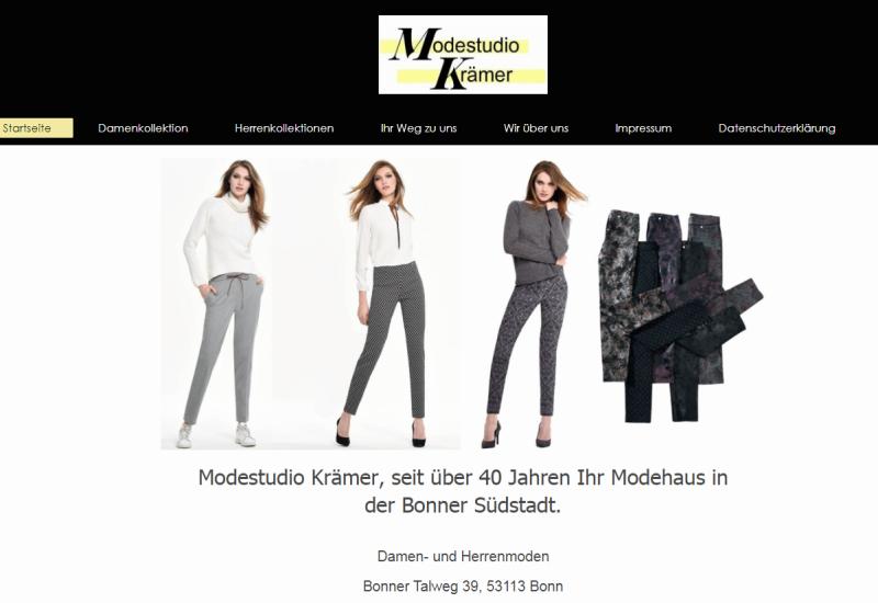 webdesin für modehaus bonn
